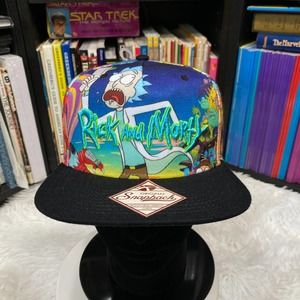 """RICK AND MORTY ALIEN INVASION SNAPBACK HAT """"NWT"""""""